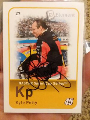 Autographed race card of Kyle petty for Sale in North Fond du Lac, WI