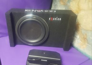 "250$ Like New sub kenwood Shallow 10"" amp kenwood for Sale in Phoenix, AZ"
