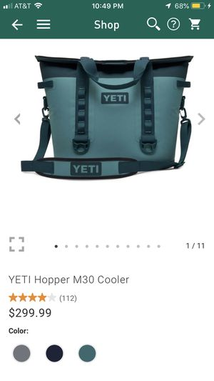 Yeti Hopper M30 Cooler for Sale in Mountain View, CA