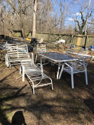 White outdoor chairs and table for Sale in Aldie, VA