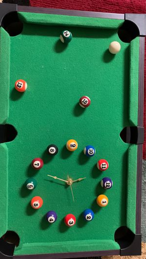 Handmade pool table clock for Sale in Daniels, MD