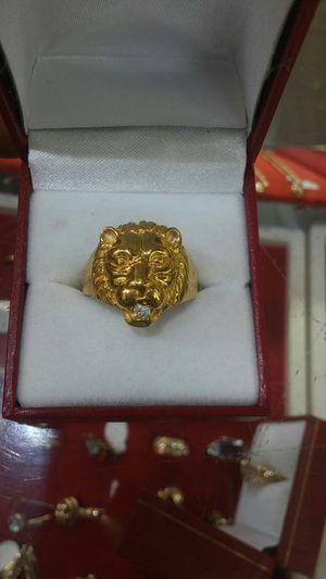 Gold Diamond Lion Ring for Sale in Orlando, FL