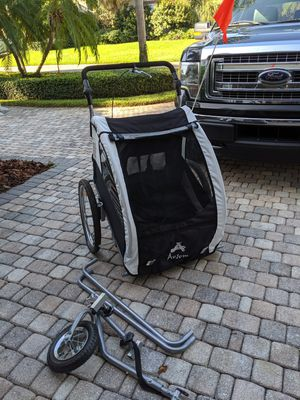 Double Stroller and Bike Trailer for Sale in St. Petersburg, FL