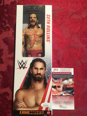 WWE Seth Rollins Signed Autographed Mattel Action Figure JSA Authentication for Sale in San Francisco, CA