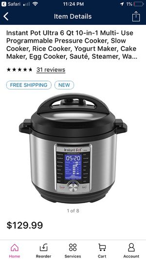 Instant pot 10 in 1 for Sale in Downey, CA