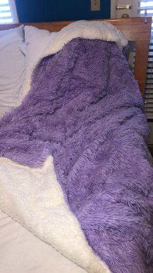 Faux Fur Lavender Blanket for Sale in Orange, CA