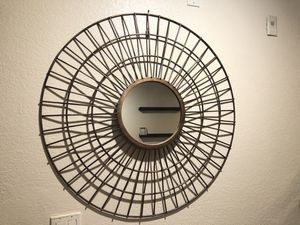 Gold large round wall mirror for Sale in Whittier, CA