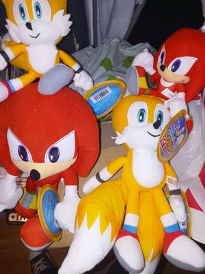 Sonic Tails Shadow Knuckles plushes for Sale in El Cajon, CA