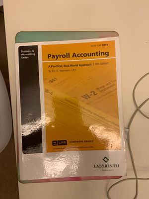 Payroll Accounting Book for Sale in Elk Grove Village, IL