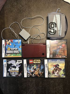 Nintendo DS with 5 games for Sale in Buford, GA