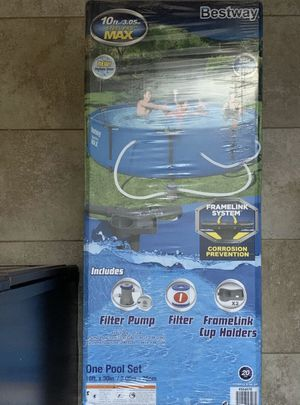 Bestway 10ft x 30in steel pro max pool set *FIRM NON-NEGOTIABLE* for Sale in Denver, CO