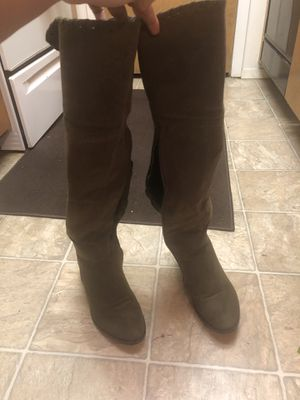 Greenish thigh high long boot for Sale in Salt Lake City, UT