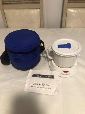 CorningWare Lunch To Go Lidded Mug With Warmer and Carrying Bag for Sale in CT, US