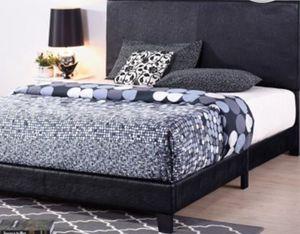 New!! Bed, king bed, king size bed, upholstered king size bed, upholstered platform king bed w wooden slats, king foundation, king bed base, bedroom for Sale in Phoenix, AZ