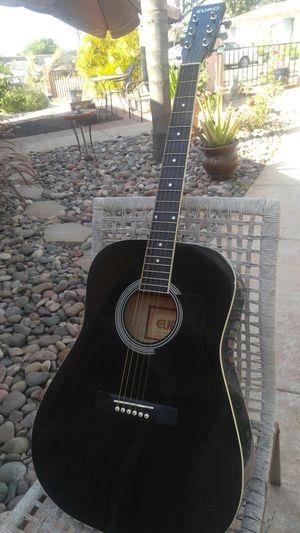 ACUSTIC. BLACK GUITAR. . God condition. AND sound. GUITARRA. Acústica . . spring valley area for Sale in Lemon Grove, CA