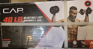 CAP Barbell 40 lb. Adjustable Cast Iron Dumbbell Set for Sale in Covina, CA