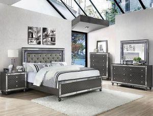 Bedroom set Queen bed +Nightstand +Dresser +Mirror. Mattress not included for Sale in Stanton, CA