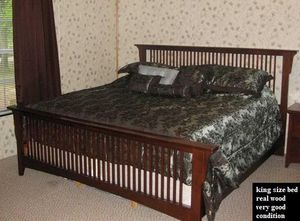 King size bed. Need to sell fast for Sale in Prairieville, LA