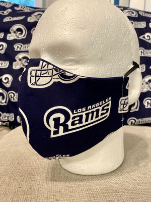 Handmade Masks Los Angeles Rams . Rams Football 🏈. NFL . 100% Cotton. Reusable. Preventive. 5 Layers of protection and comfort. Filter. for Sale in Orlando, FL