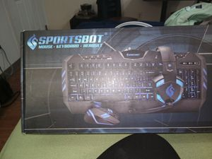 SPORTSBOT (mouse•keyboard•headset) for Sale in Des Moines, WA