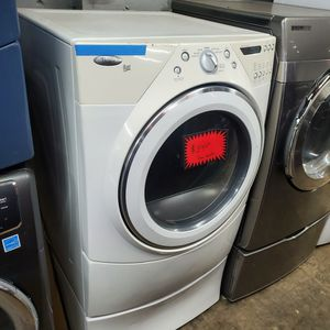 Whirlpool Front Load Electric Dryer With Pedestals Working Perfectly Four Months Warranty for Sale in Baltimore, MD
