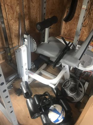 bar weights, dumbbells,bench and more everything and good condition for Sale in Annandale, VA