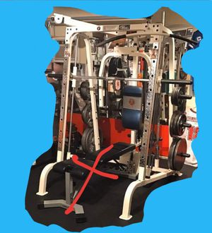 Smith Machine MultiStation Power Rack Cage Home Gym w Attachments - Marcy Diamond Elite w bench - SUPER HEAVY DUTY for Sale in Mansfield, TX