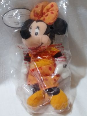 "Disney Store Minnie Mouse November Topaz Birth Stone Birthstone Plush Bean Bag Doll with Necklace 18"" Chain for Sale in Homestead, FL"