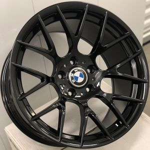 """Brand new 18"""" staggered gloss black BMW style concave wheels 5x120 all 4 READ DESCRIPTION! PRICE FIRM! for Sale in Montebello, CA"""