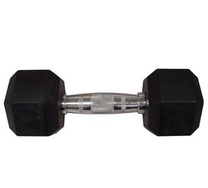 Pair of Rubber Hex Dumbbells - 25lbs each for Sale in Seattle, WA