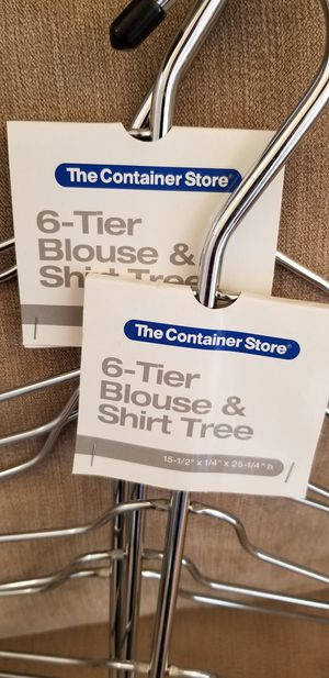 Container Store Shirt Tree Hangers for Sale in Lowell, MA