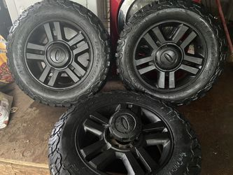 Ford 18 Rims with All Terrain Tires for Sale in San Antonio,  TX