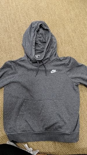 Nike sweatshirt with hood, grey for Sale in Pacifica, CA