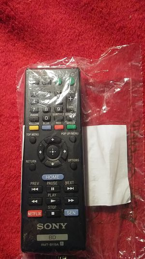 SONY BD RMT-B119A Blu Ray Player Remote for Sale in Austin, TX