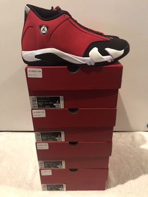 "AIR JORDAN 14 RETRO TORO GYM RED SIZE 10.5 ""LAST ONE IN STOCK"" for Sale in El Monte, CA"