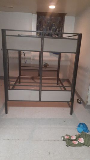 Bunk bed set no mattress am selling because am moving normal used good conditions for Sale in Buffalo, NY