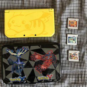 Nintendo 3DS XL Pokémon Edition Yellow Handheld System for Sale in Upper Marlboro, MD