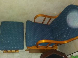 Rocker/Glider w/stool padded for Sale in Poca, WV