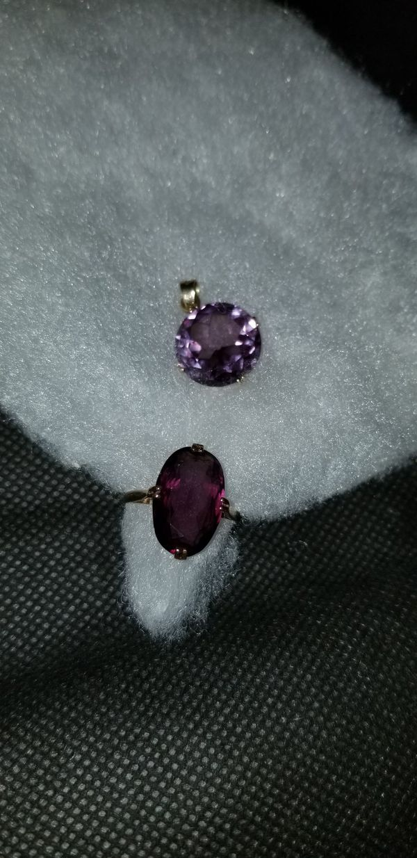 Vintage Amethyst Ring and Pendant