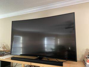 """Samsung Curved Smart TV 65"""" & Soundbar for Sale in Midway, GA"""