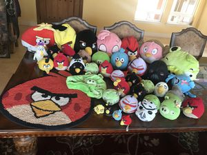Angry Birds Plush Toys and T-shirts Lot for Sale in Sanger, CA