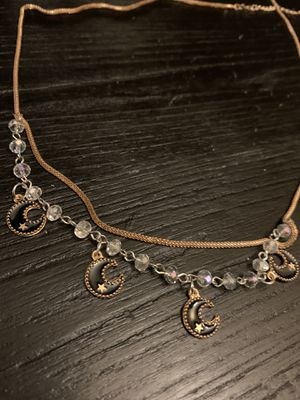 Rose Gold Necklace / beads and crescent moon charms for Sale in Charlotte, NC