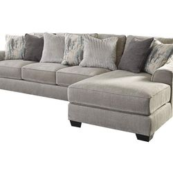 NEW,L SHAPPED, RAF CORNER CHAISE SECTIONAL, PEWTER COLOR. for Sale in Santa Ana,  CA