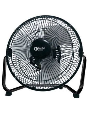 Comfort Zone CZHV9B 9-inch High Velocity 3-Speed Floor Fan with 180-Degree Tilt for Sale in Vernon, CA