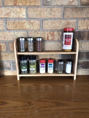 Decorative rustic wood shelf (spice, shot glass, essential oil, decoration) for Sale in Dallas, TX