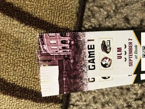 6 tickets to FSU vs ULM this Saturday for Sale in Tallahassee, FL