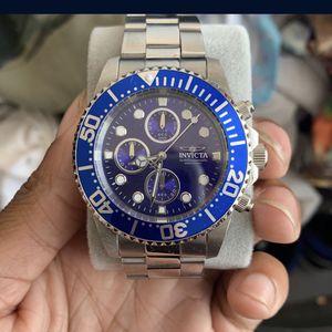 Invicta Silver With Blue Trim Watch for Sale in Miami, FL