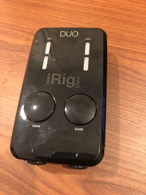 iRig Pro Duo Mobile Audio Interface for Sale in Brooklyn, NY