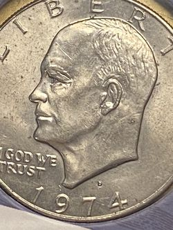 1974-D Eisenhower Ike Dollar Coin DDO DDR ERRORS for Sale in Plainfield,  IL