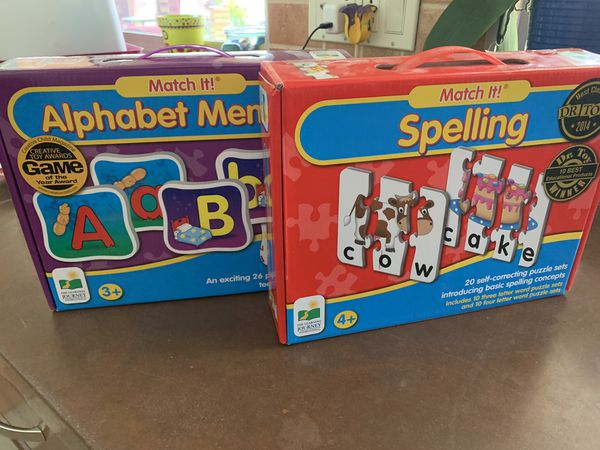 The Learning Journey March It! Alphabet and Spelling games puzzles